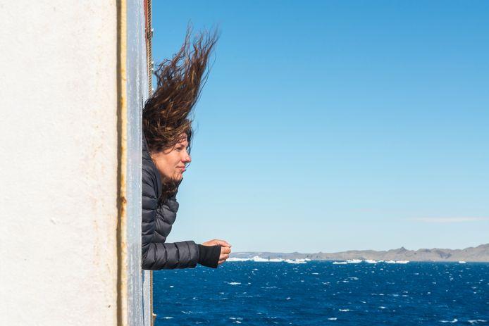 Esther Kokmeijer onderweg naar Antarctica