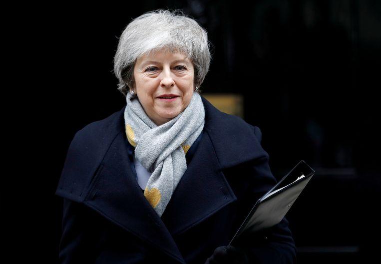 Eergisteren presenteerde Theresa May haar nieuwe brexitvoorstel, dat ze begin juni aan het parlement wil voorleggen. Beeld REUTERS