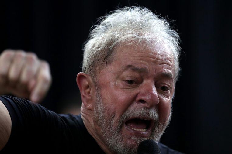 Lula eerder dit jaar, toen hij nog geloofde in een nieuwe kans als president. Beeld EPA