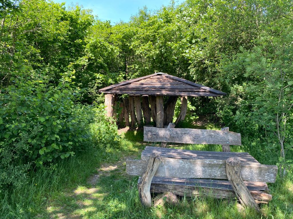 De schuilhut in Hulsel, waar een van de aanrandingen plaatsvond