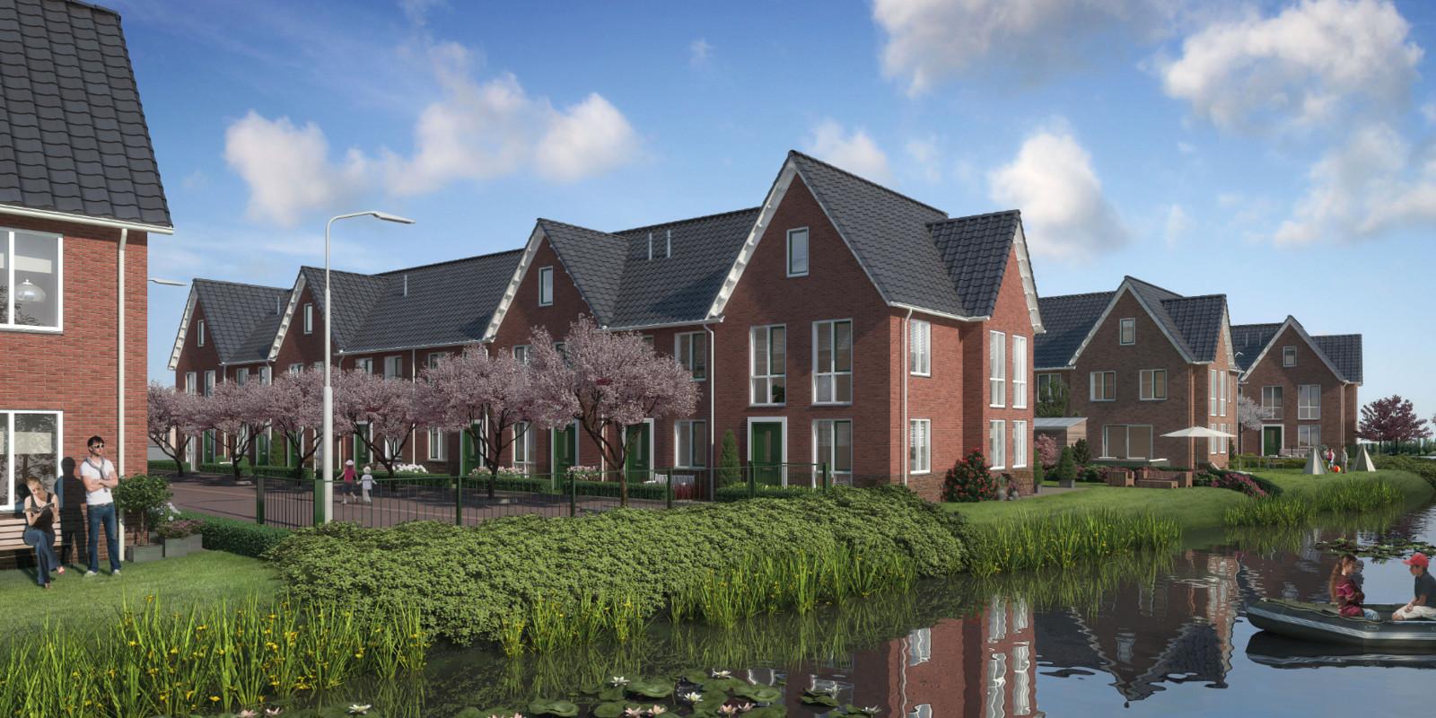 Een artist impression van het project Houthaven Schiedam.