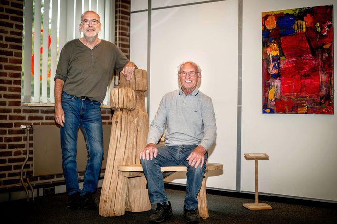 Ger Pekel (links) met zijn donateur, 'molenbouwer' Wim Coppens.