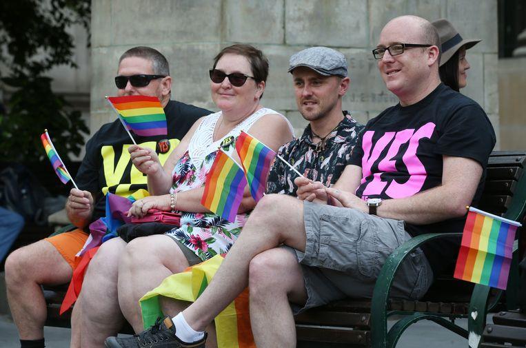 Voorstanders wachten de uitslag af in Melbourne.