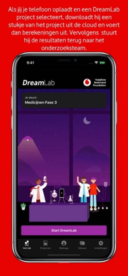 Vodafone lanceert maandag een nieuwe app voor corona-onderzoek.