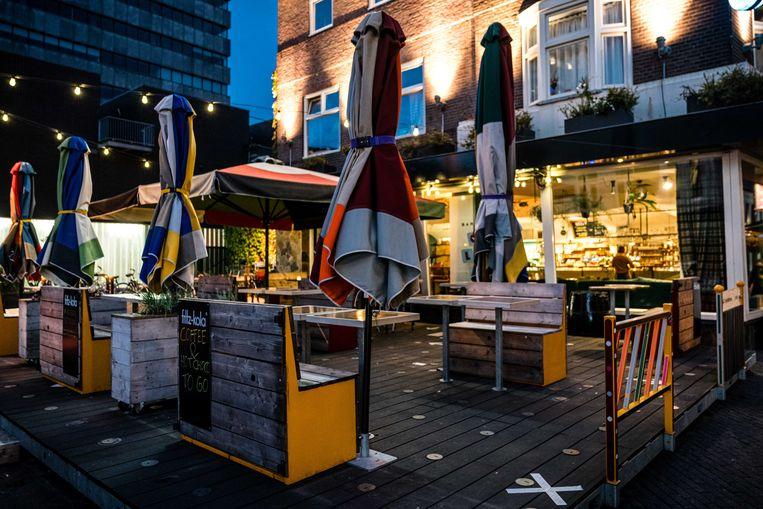 Lege cafe's aan het Stratumseind in Eindhoven Beeld ANP