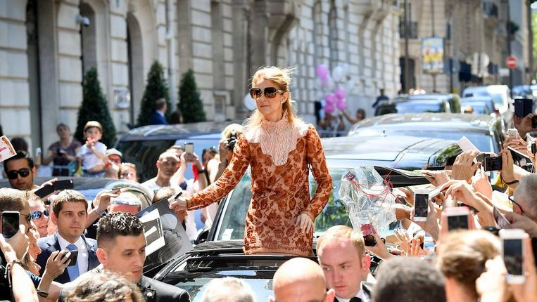 Céline Dion in Parijs.