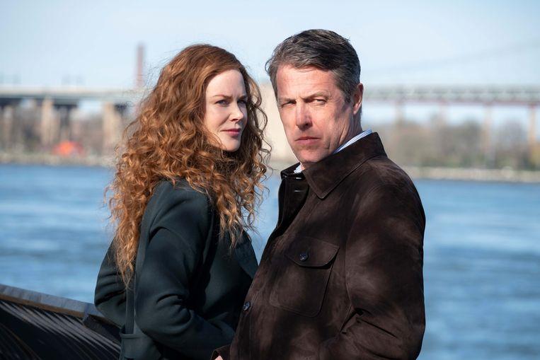 Nicole Kidman en Hugh Grant als echtelieden in het New Yorkse moordmysterie The Undoing, Beeld Niko Tavernise/HBO