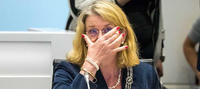 Burgemeester Pauline Krikke tijdens het debat vanavond.