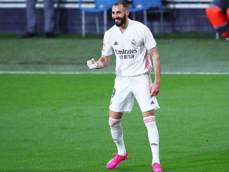 Real Madrid dankzij uitblinker Benzema in punten naast Atlético