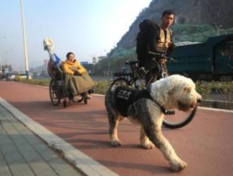 Liefde is ... je vriendin in rolstoel voorttrekken tijdens tocht in vorm van hart