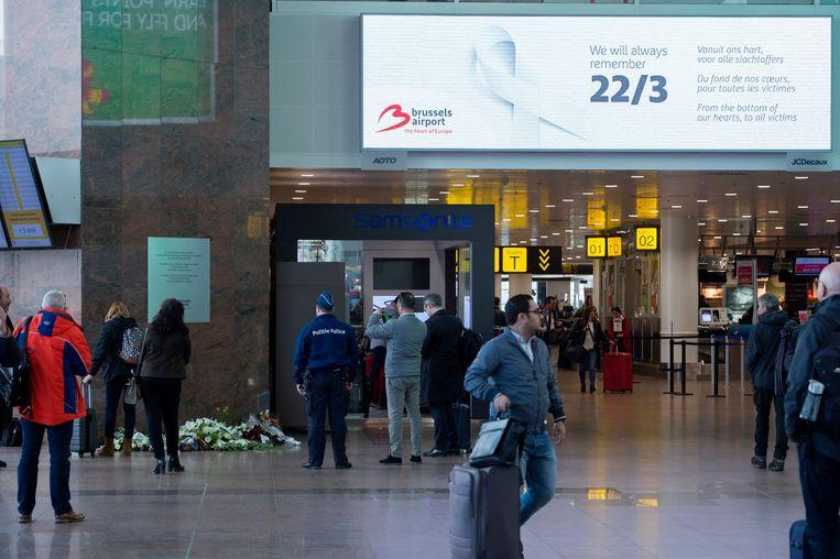 Een jaar na de aanslagen zou er volgens het personeel nog steeds geen evacuatieplan zijn op de luchthaven van Zaventem Beeld Photo News