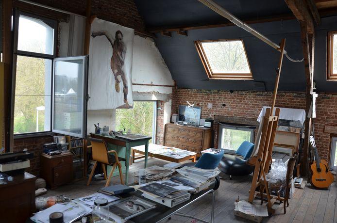 Het atelier van Patrik Rogiers.