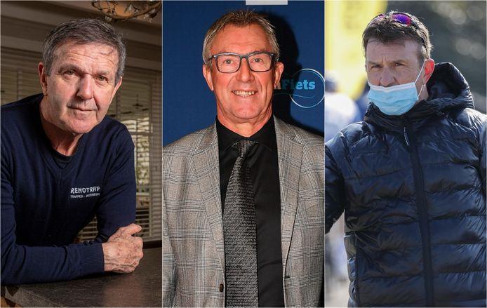 Roger De Vlaeminck, Dirk De Wolf en Johan Museeuw maakten het voorjaarsrapport van de Belgen op.