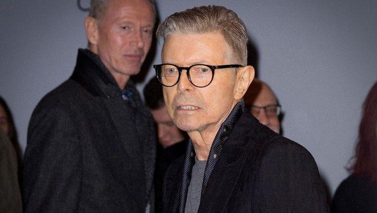 Bowie in december 2015 na de wereldpremière van Lazarus in New York. Beeld anp