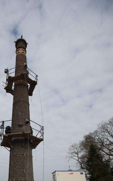 Pistorius-schoorsteen staat weer overeind