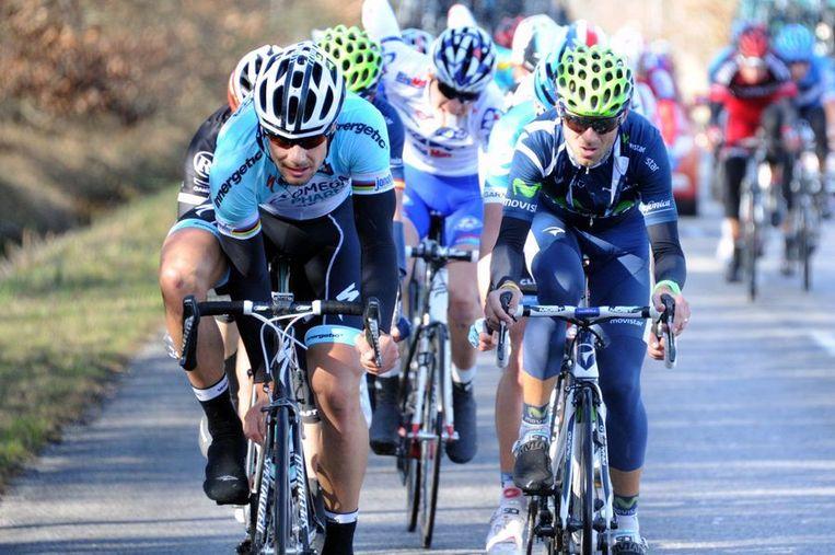 Alejandro Valverde (rechts). Beeld afp