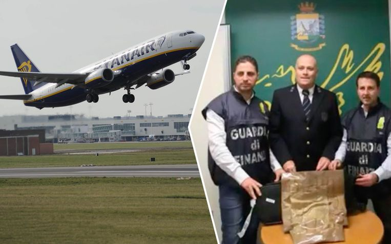 De Italiaanse politie beschouwde de vlucht vanuit België als 'riskant' voor drugshandel.
