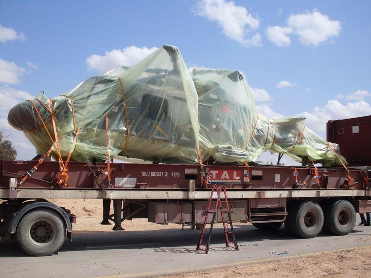 De Lynx-helikopter die door Libische soldaten werd overmeesterd. Beeld ANP