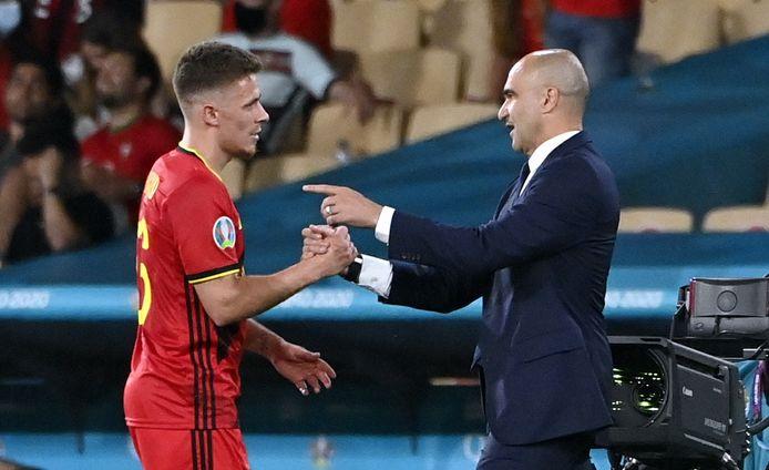 Thorgan Hazard met de bondscoach.