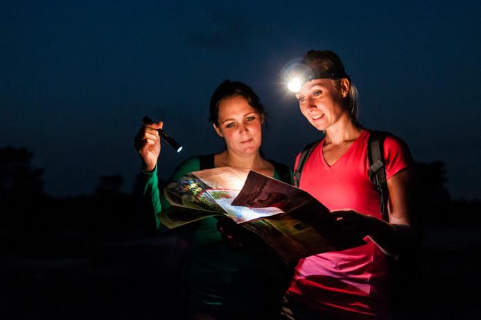 Dwalen in de nacht door dichte bossen en over glooiende heidevelden in Nationaal Park De Sallandse Heuvelrug. Dat kan tijdens de Midzomernachtloop.