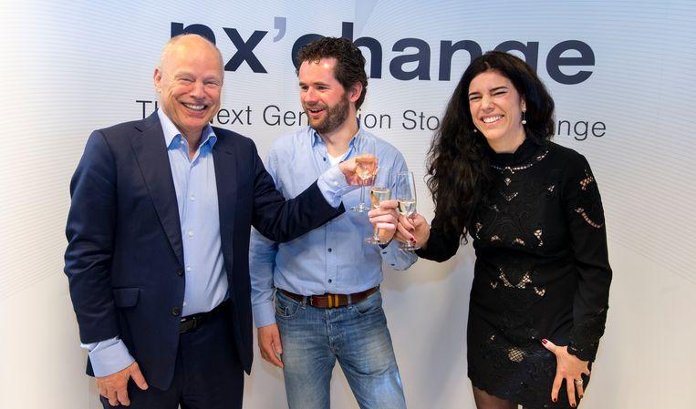 Verliezer van de week: Michiel Langezaal (midden,) oprichter Fastned.  Beeld ANP