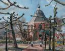 Koepelkerk Willemstad, geschilderd door Jos Antens uit Roosendaal.