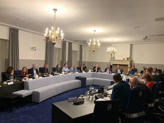 De raad bijeen tijdens de begrotingsbehandeling.