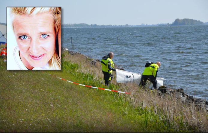 Het lichaam van Esther Paul (inzet) werd in april 2017 gevonden langs de oever van het Veluwemeer bij Dronten.