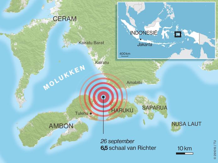 De aardbeving bij Ambon.