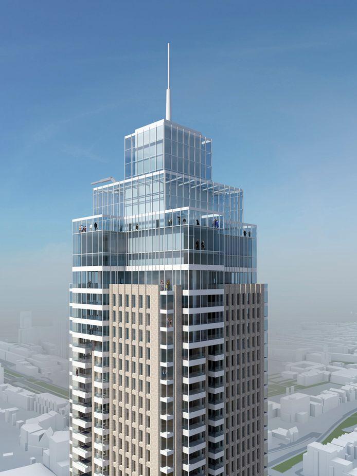 De nieuwe 215 meter hoge Zalmhaventoren