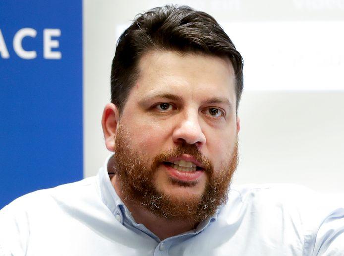 Leonid Volkov in 2020 in Berlijn.