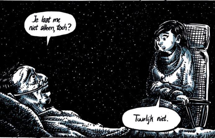 Beeld uit graphic novel Naasten