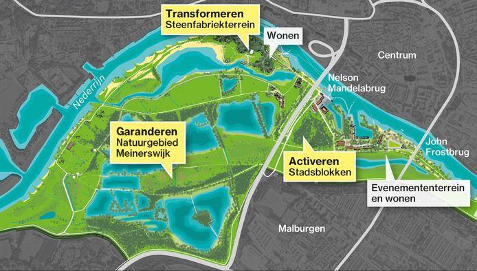 Stadsblokken-Meinerswijk, visie De Eilanden 2.0.