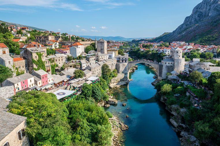 Het oude stadsgedeelte van Mostar met de Stari Most-brug over de Neretva. Beeld AGEFOTOSTOCK