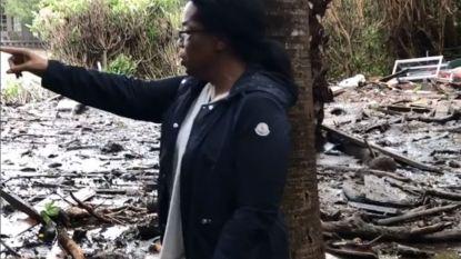 Oprah toont modderschade rond haar landgoed