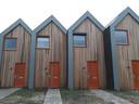 De vier microwoningen in Waalwijk.