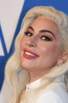 Hondjes Lady Gaga zaten vastgebonden aan paal