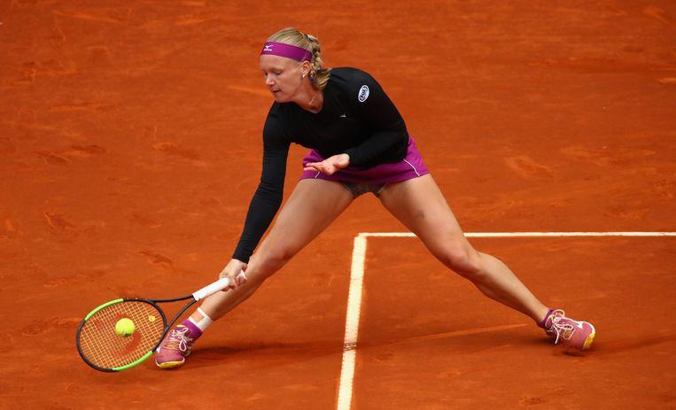 In de finale in Madrid verloor Bertens van de Tsjechische Petra Kvitova. Toch toonde ze zichzelf achteraf optimistisch over haar toernooi.  Beeld Getty Images