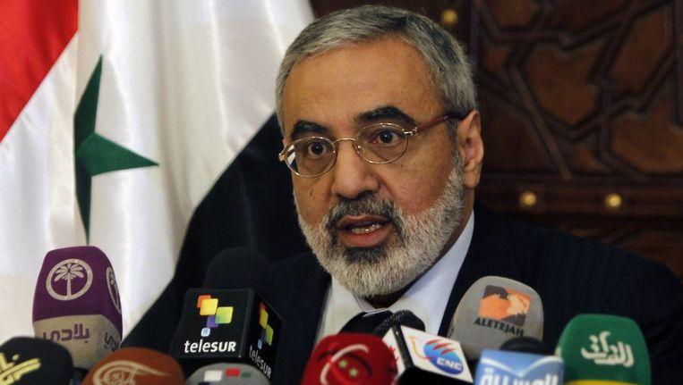 De Syrische minister van Informatie Omran Zoabi Beeld reuters