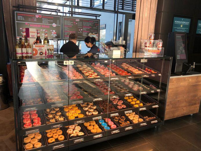 De pop-up-winkel van Dunkin' Donuts staat voortaan in de lobby van hotel Van der Valk Uden.