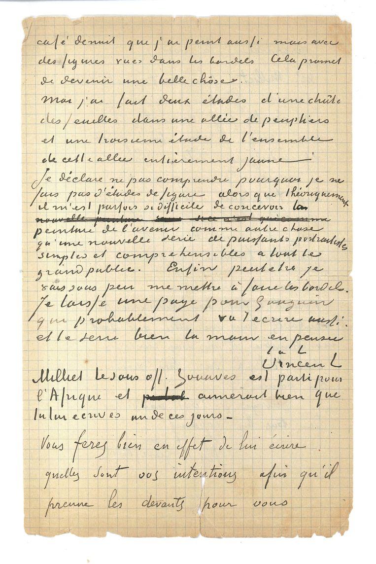 De brief. Beeld Van Gogh Museum