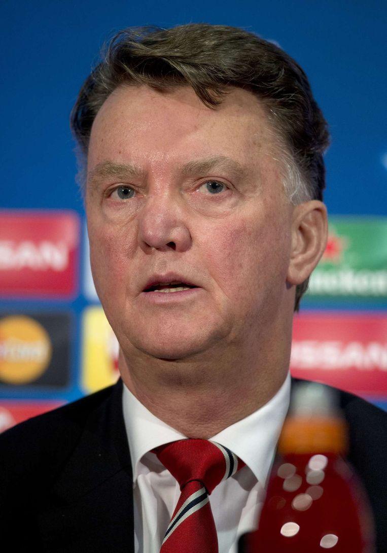 Louis van Gaal als coach van United. Beeld afp