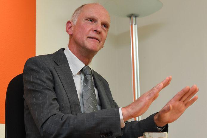 Burgemeester Marcel Fränzel van Sint Anthonis. ,,Kalmte kan u redden, denk ik dan. Keep calm and carry on, dat is mijn leitmotiv altijd.''