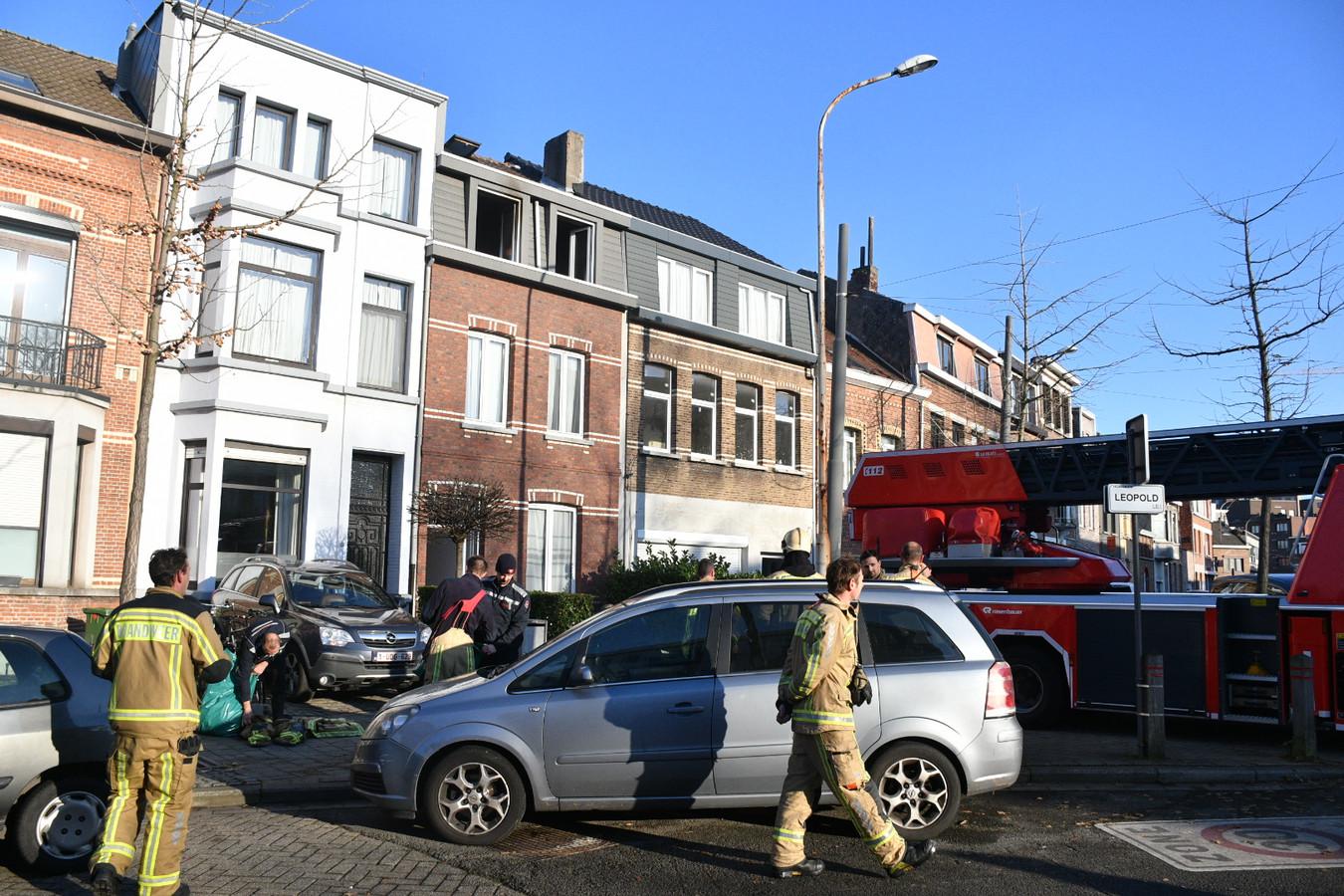 In de Leopoldlei in Hoboken vond een keukenbrand plaats.