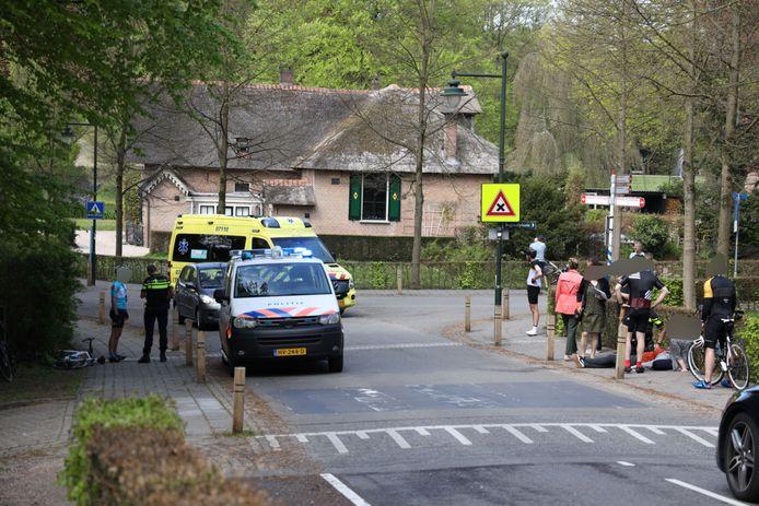 De plek van het ongeluk in Rozendaal.