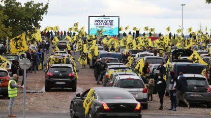 """""""5.000 auto's"""" in Brussel voor protestrit Vlaams Belang"""