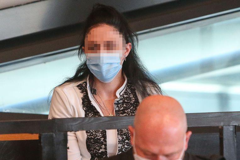 Marc Laudet en Ashley Van de Velde staan terecht voor het Hof van Assisen voor moord op Christine Lenaerts. Beeld Photo News