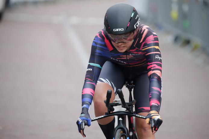 Lisa Klein won donderdag de proloog van de BeNe Ladies Tour en zaterdagavond de tijdrit.