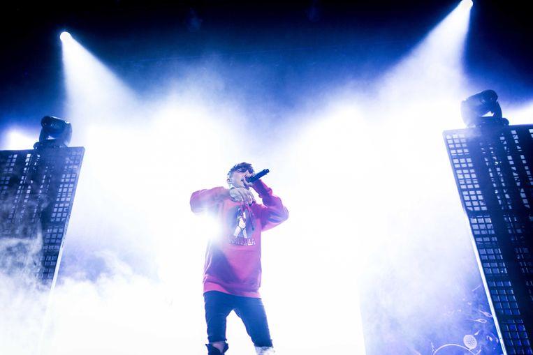 De Nederlandse rapper Lil' Kleine is een vaste klant in de Belgische hitlijsten. Beeld ANP