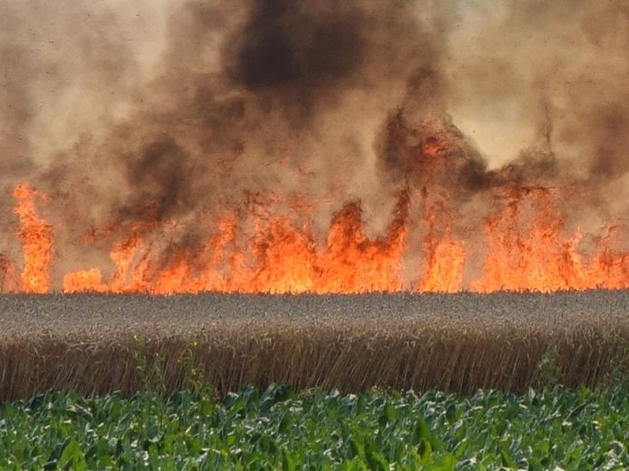 De brand in Nieuwerkerk.